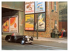 Triumph Roadster (kingsway john) Tags: 176 scale diorama layout road triumph 2000 roadster efe oogauge poster advert