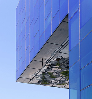 Office building with reflecting terrace