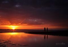 Sunset Conversation (Beth Wode Photography) Tags: sunset sundown reflections lowtide conversations wellingtonpoint redlands mud silhouette beth wode bethwode