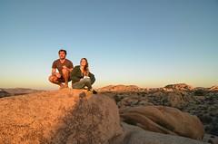 Desert Wanderers (JbGinioux) Tags: desert joshuatree california french travel trip usa spring sunset np selfie photography photo flickr jumborockcampground