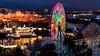 Colorful Funwheel (fentonphotography) Tags: nightscape nightphotography ferriswheel disney california amusementpark landscape