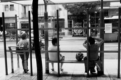 Waiting (SofRdr) Tags: streetphotography blackandwhite