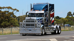 Western STAR 'n' STRIPES (Jungle Jack Movements (ferroequinologist)) Tags: western star stars stripes livery geelong melbourne vic victoria princes freeway prime mover truck tractor diesel injected motor engine driver cab cabin fast brake wheel exhaust loud rumble beast hood hp horsepower gear oil haul haulage freight cabover trucker drive transport carry delivery bulk lorry hgv wagon road highway nose semi trailer double b deliver cargo interstate articulated vehicle load freighter ship move roll power grunt teamster usa america united states industry zwc 480 truckrun