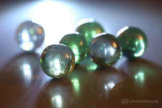 marbles in backlight