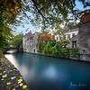 Autum Colors In Bruges III (Alec Lux) Tags: architecture autumn belgium branches bricks bridge bruges brugge building buildings canal city colorful colors daylight fall house landscape leave longexposure medieval nature old season street tree water vlaanderen be
