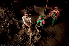 Culture in New Delhi (Dan Ballard Photography) Tags: people culture world new delhi india family sculpting pottery home