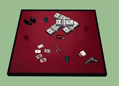 Gaмвlerѕ Hand - WIP х2: !!COMING SOON!! (мarveloυѕ creaтιonѕ) Tags: second life game wip gamblers table hand drugs guns money poker chips cards red black ohsnap