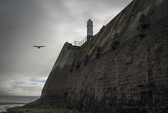 PORTHCAWL LIGHTHOUSE.....FROM THE BEACH. (IMAGES OF WALES.... (TIMWOOD)) Tags: wfc welsh flickr cymru wales beach coast porthcawl bridgend flickrmeet lifeboat lifeboatmen rnli lighthouse tim wood gallery