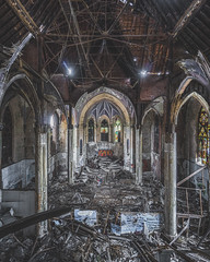 Can you spot him? (_soliveyourlife_) Tags: abandoned abandonedplaces decay church explore forgottenplaces sony urbanexploring