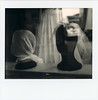 untitled (kaumpphoto) Tags: polaroid instant spectra monochrome wedding display head veil dress fold black wrap street window