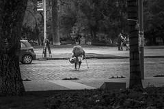 Chile   Santiago   Street (Medigore) Tags: sombras shadows white byn blanco black chile canont3i calle canon 1750 medigore sigma monocromático gente work street people life ngc geometría simetría líneas carretera