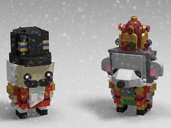 Nutcracker and Mouse King Brickheadz (monkey5321) Tags: lego brickheadz nutcracker mouse king mouseking musical christmas