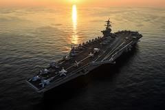USS Theodore Roosevelt (CVN 71) transits the Arabian Gulf. (Jay.veeder) Tags: usstheodoreroosevelt cvn71 aircraftcarrier theodorerooseveltcarrierstrikegroup carrierstrikegroup9 carrierairwingseventeen arabiangulf