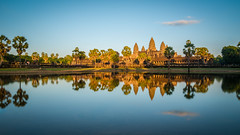 Sunset over Angkor Wat (_gate_) Tags: angkor wat sunset cambodia siem reap temple kambodscha khmer buddhist asia south east travel nikon d750 2485mm afs vr nd1000 haida long exposure landscape architecture december 2016 2017