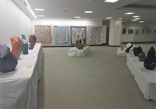 sculpture & quilting, citizen art exhibit