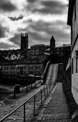 Abbey Slip, Penzance (Rogpow) Tags: cornwall penzance abbeyslip mono blackandwhite steps buildings bnw