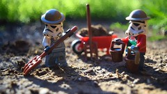 A Cubist Re-Imagining (RagingPhotography) Tags: lego star wars imperial galactic empire storm trooper stormtrooper soldiers imperials farmers farmer farm outside outdoor nature beautiful pretty bokeh cubist cubism sunlight sun light bright detailed dirt soil agriculture water ragingphotography