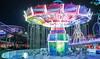 Rotating swing of extreme illumination (sapphire_rouge) Tags: japan 日本 illumination kawasaki 川崎市 yomiuriland イルミネーション よみうりランド amusementpark nightview
