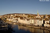 View over Zurich and the Limmat river