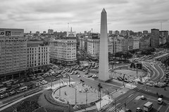 Buenos Aires (karinavera) Tags: city photography cityscape urban ilcea7m2 buenosaires monochrome argentina microcentro clouds blackandwhite caba people exclusiveview obelisco