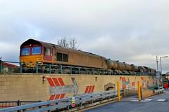 EWS / DB Cargo 66165 - Mansfield (the mother '66' 66001) Tags: ews dbschenker dbcargo class66 robinhoodline mansfield nottinghamshire rhtt railways 66165