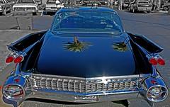 Reflective (oybay©) Tags: cadillac car automobile reflection macro headlight headlamp classiccar chrome heavymetal grille harleyearle arizona scottsdale generalmotors gm pavillions mcdonalds roa