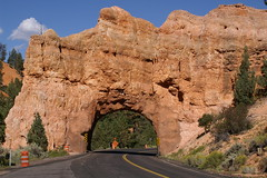 A natural bridge (frankraney130@gmail.com) Tags: mountain road nature highway tunnel travel arch landscape noperson nationalpark canyon rock valley sky outdoors geology tree cliff architecture building badlands castle historicsite outdoor fort desert soil formation grass pot escarpment rocky front freeway stone terrain side conifer sandstone sitting flora scenic old plant large ancienthistory train yew daylight outcrop
