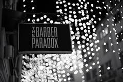 The Barber Paradox (Who shaves the Barber?) (Toni_V) Tags: m2406026 messsucher digitalrangefinder rangefinder leicam leica mp typ240 type240 50mmf095asph f095 nocti noctilux dof bokeh iso800 thebarberparadox whoshavesthebarber rennweg city stadt weihnachtsbeleuchtung advent bw monochrome schwarzweiss blackwhite sep2 silverefexpro2 niksoftware zurich zürich switzerland schweiz suisse svizzera svizra europe ©toniv 2017 171210