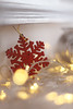 14008 (chloewilkinson2) Tags: christmas glitter lights decorations bokeh 50mm festive home interior detail snowflake red silver gold