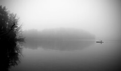kayak In The Fog (Faron Dillon) Tags: kayak fog foggy lake water canon 5ds 2415l 24105 bond ontario richmond hill moody trees morning reflection nature
