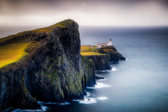 Scaling the Cliff (Augmented Reality Images (Getty Contributor)) Tags: neistpoint lighthouse isleofskye scotland storm waves cliffs water island leefilters hebrides canon rocks longexposure clouds unitedkingdom gb