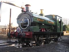 IMG_7973 - GWR Hudswell Clarke Saddle Tank 813 (SVREnthusiast) Tags: severnvalleyrailway svr severnvalley severn valley railway gwrhudswellclarkesaddletank813 gwr hudswellclarke saddletank 813