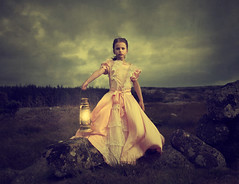 Northern Gothic (Maren Klemp) Tags: fineartphotography fineartphotographer darkart darkartphotography color vintage dreamy girl kid lantern landscape nature outdoors ethereal conceptual surreal clouds goth painterly evocative