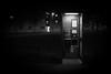 Cherub Rock (Barnaby Nutt) Tags: telephone kiosk off hook leicester night dark bloke shadows