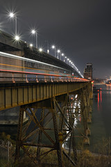 Streaking eastward (CN Southwell) Tags: amtrak martinez benicia california bridge east bay night light streak