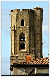 Clocher, Église Saint-Vincent, Carcassonne (Aude, France)