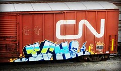 ICH (timetomakethepasta) Tags: ich ichabod yme 63 freight train graffiti art cn canadian national boxcar benching selkirk new york