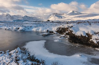 Ice on Lochan na h-Achlaise
