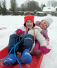 Megan & Eva - adorable! (Shamus O'Reilly) Tags: jack megan children kids charlbury uk fun snow sledge toboggan