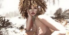I face the cold ... (ShaNaela) Tags: event blouse top makeup gloss eyes lips winter sl catwa maitreya pink