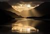 Sunrise over Llyn Padarn (PSHiggins) Tags: sunrise lake llyn water dwr padarn llanberis snowdonia snowdon rays sun morning early castle eryri reflection castell dolbadarn nikon d610
