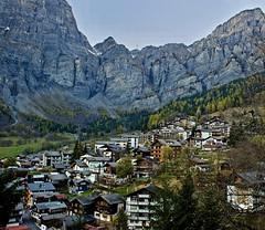The valley town of Leukerbad (somabiswas) Tags: saariysqualitypictures leukerbad alps valais switzerland