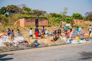Selling dried fish, Zambia. Photo by Chosa Mweemba.