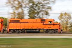 CSS 2002 @ Ogden Dunes, IN (Michael Polk) Tags: chicago south shore bend railroad freight emd gp382 2002 ogden dunes pan shot