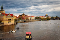 Zlata (Мaistora) Tags: river city old historic historical buildings architecture palace splendour guilted golden tower steeple clock boat riverboat bridge history culture skyline trees water reflections sky clouds ripples rapidsafternoon cloudy sunset grey yellow orange warm cold sony alpha ilce a6000 zeiss sel24f18za 24mm lens edit process postprocess dxo optics aura hdr explore explored08nov17