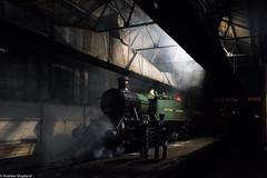 Prairie Tank (Articdriver) Tags: didcot railway trains locomotive britishrailways greatwestern prairie steam shadows shed smoke didcotrailwaycentre