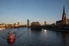 2017 Feuerwehrschiff auf dem Main (mercatormovens) Tags: frankfurt city stadtlandschaften ezb feuerwehrschiff schiff main