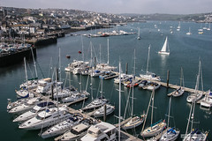 "Falmouth Marina, Cornwall. (Scotland by NJC.) Tags: yachts boats cutter sloop ketch sailboat vessels craft يَخْت iate 游艇 jahta jachta ""jacht schip"" yate huvialus jacht γιοτ ヨット 요트 lystbåt iaht яхта harbour harbor مِينَاء porto 海港 luka přístav havn haven puerto satama port hafen λιμάνι 港 항구 okręt гавань hamn ท่าเรือ liman bến cảng coastline 海岸线 litoral côte küste linea costiera 海岸線 해안선 seashore coast shore seaboard seaside beach strand falmouth cornwall uk"