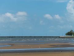 Cumulus mediocris and Stratus over Sandgate Pier from Sandgate foreshore P1090329f (john.robert_mcpherson) Tags: bramble bay cumulus clouds