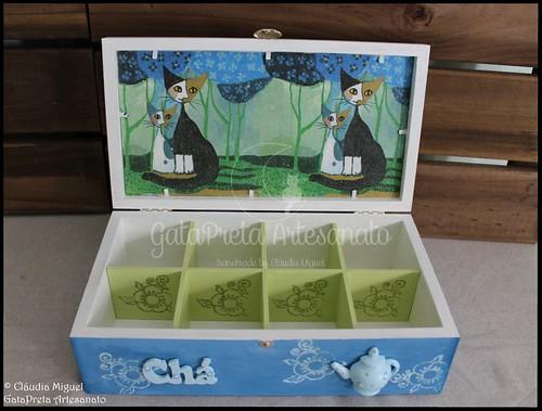 """Caixa de chá """"Klimt Cats"""""""